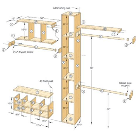 how to build a closet system woodwork closet organizer plans pdf plans