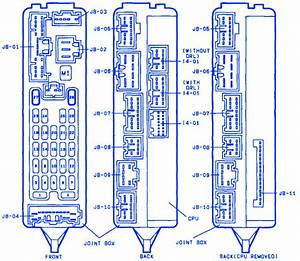 Mazda 626 Joint 1999 Fuse Box  Block Circuit Breaker Diagram