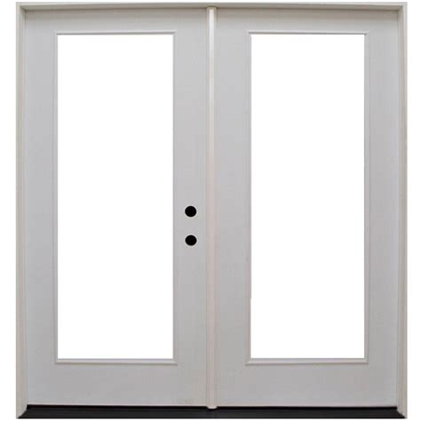 Outswinging Patio Doors by Steves Sons 68 In X 80 In Primed White Fiberglass
