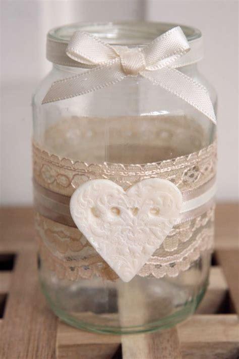 shabby chic glass jars jam jar tea lights and shabby on pinterest