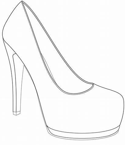 Shoe Shoes Ladies Template Drawing Win Heel