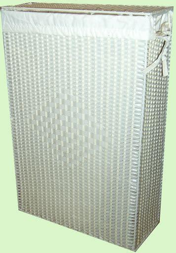 Wäschekorb Schmal Weiß by W 228 Schekorb Slim Line Wei 223 Rattan Optik Creme Schmal Ebay