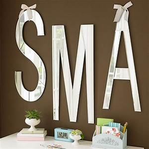 Mirrored wall letters modern wall letters by pbteen for Large mirrored letters wall