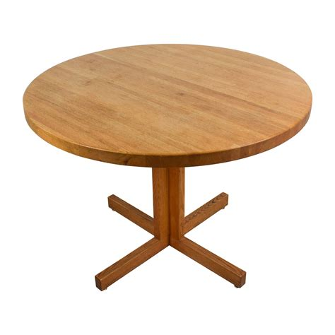 90% Off  Solid Oak Round Table Tables