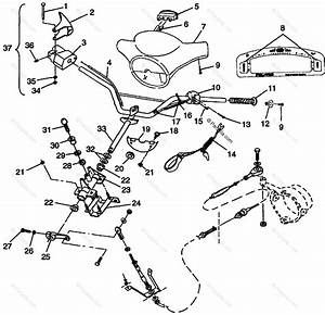 Polaris Watercraft 1997 Oem Parts Diagram For Steering Slt