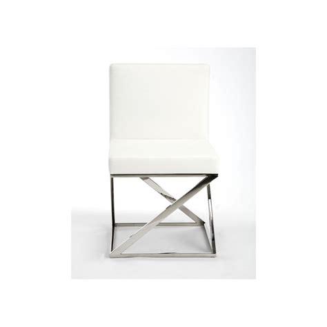 chaise inox chaise moderne inox et simili cuir artis prix d 39 usine