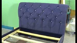 how to reupholster a tufted headboard and install the bed