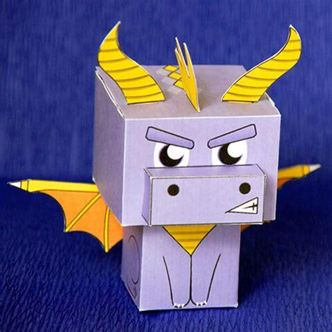 spyro  dragon paper toy  printable papercraft