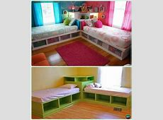 DIY Twin Corner Bed Storage Bed with Corner Unit