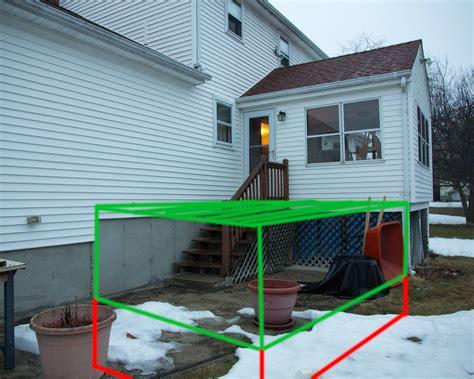100 building a deck on grade attaching bottom deck