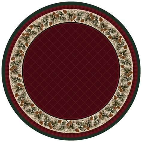 Evergreen Burgundy Rug 8 Ft. Round