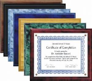 certificate holders With slide in certificate plaque and document holder