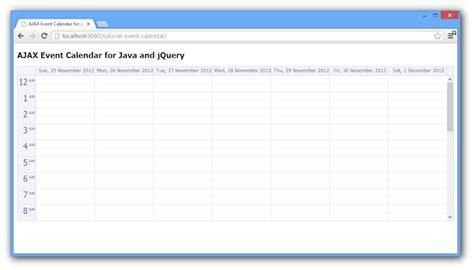 Ajax Event Calendar For Java And Jquery (open-source