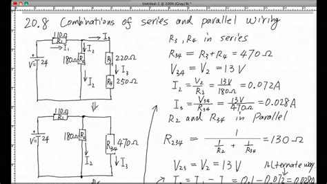 Combination Series Parallel Circuits Youtube