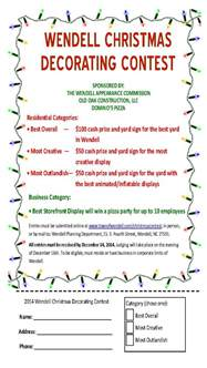 christmas decorating contest flyer ideas christmas
