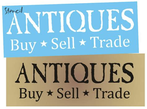 stencil primitive font antiques buy sell trade home decor shop signs ebay