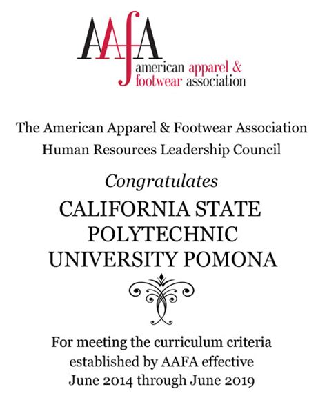 aafa endorsed colleges