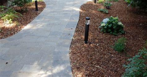 belgard catalina patio and path with belgard weston wall