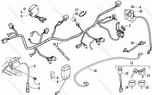 Arctic Cat Atv 2008 Oem Parts Diagram For Electrical And Wiring Harness Assembly