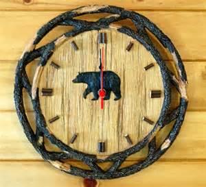 black bear twig round 12 quot wall clock westernroserug