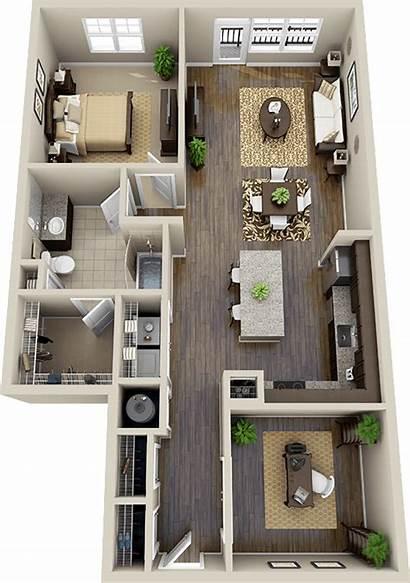 Bedroom Plans Floor Apartment Casas Visit или