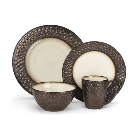 dinnerware jcpenney sets stoneware dining bedroom decor discount dish collection dishware pottery plates brown square cuisinart anais piece fascinating room