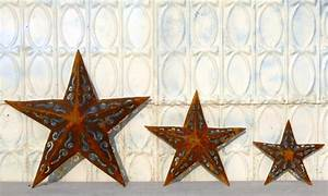 Large plasma cut metal star wall decor