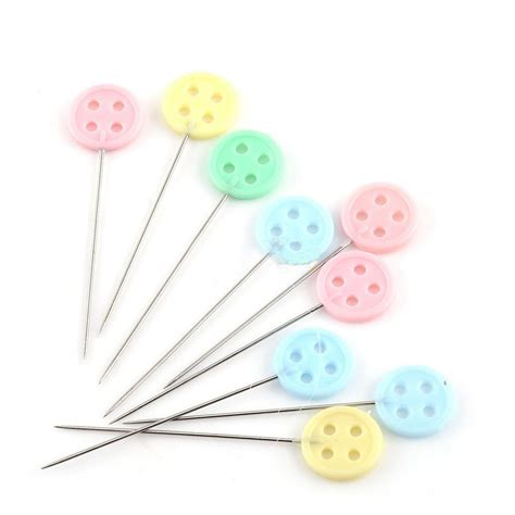 100pcs/bag Pins Mixed Colors Sewing Patchwork Pins Flower