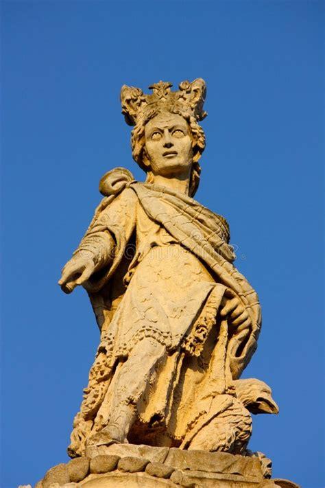 baroque statue  lecce italy stock photo image