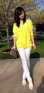 Bright yellow with white jeans Saks FF presale ongoing | Fabby Life ...