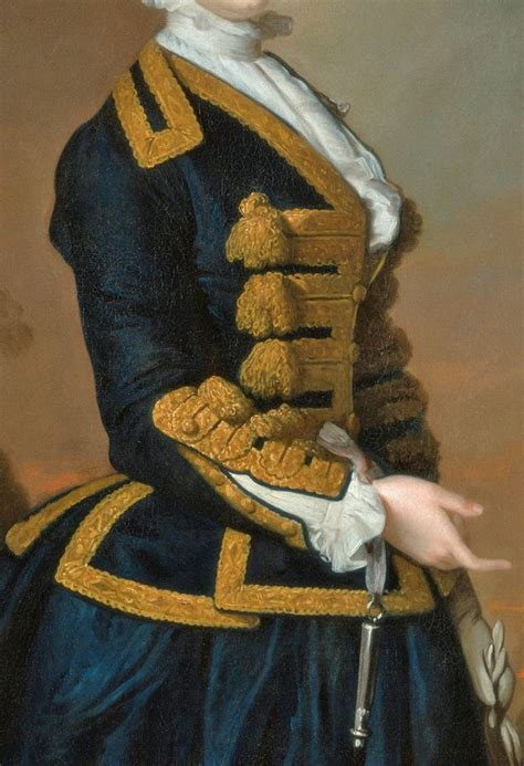 Navy Blue Riding Habit With Elaborate Gold Frogging Gold