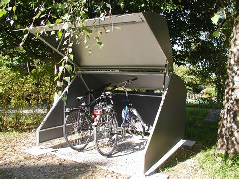 Fahrradgarage Cleverer Stellplatz Fuer Den Drahtesel by Fahrradunterstand Bauen Lamellenzaun Selber Bauen