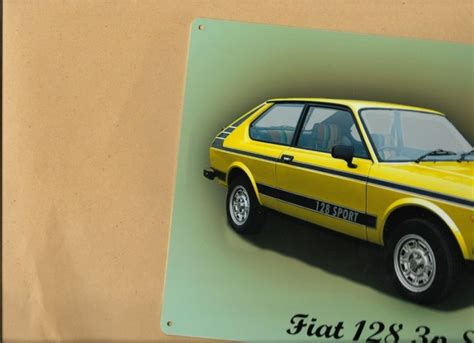 Fiat Sign by Classic Car Sign Fiat 128 3p Metal Wall Sign For Sale In