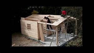 abri de jardin montage de la toitureflv youtube With fabriquer un cabanon de jardin