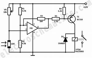 dark activated relay circuit With relay circuits