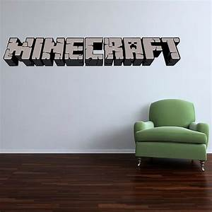 5 foot large minecraft logo vinyl wall decal by for Awesome minecraft vinyl wall decals
