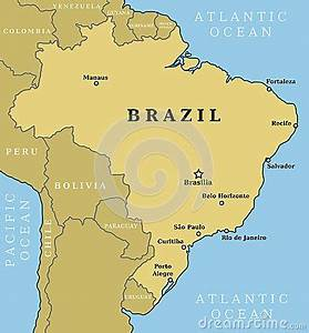 Brazil Map Royalty Free Stock Images - Image: 30365939