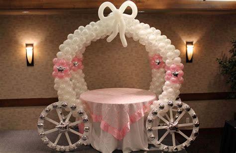 decoracion princesas carruaje de globos decoracion en
