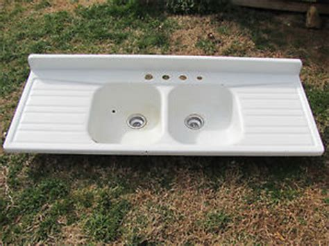 antique sinks with drainboards antique enamel porcelain farm house sink drainboard