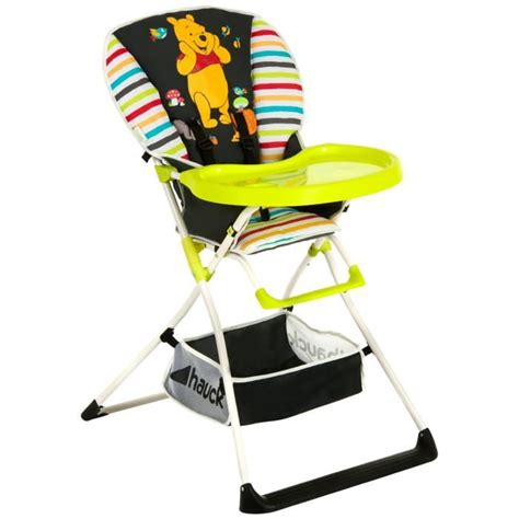 Chaise Haute Hauck Winnie by Disney Chaise Haute Mac Baby Winnie Noir Motif Multicolore