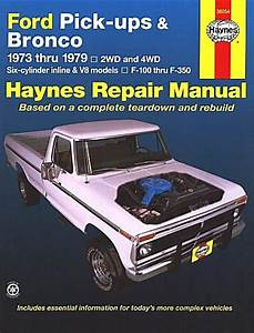 Ford F150  F250  F350  Bronco Service Repair Manual 1973