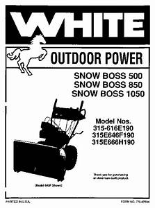 Mtd White Outdoor Snow Boss 500 850 1050 315
