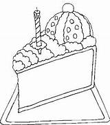 Cake Slice Desserts Coloring Pages sketch template