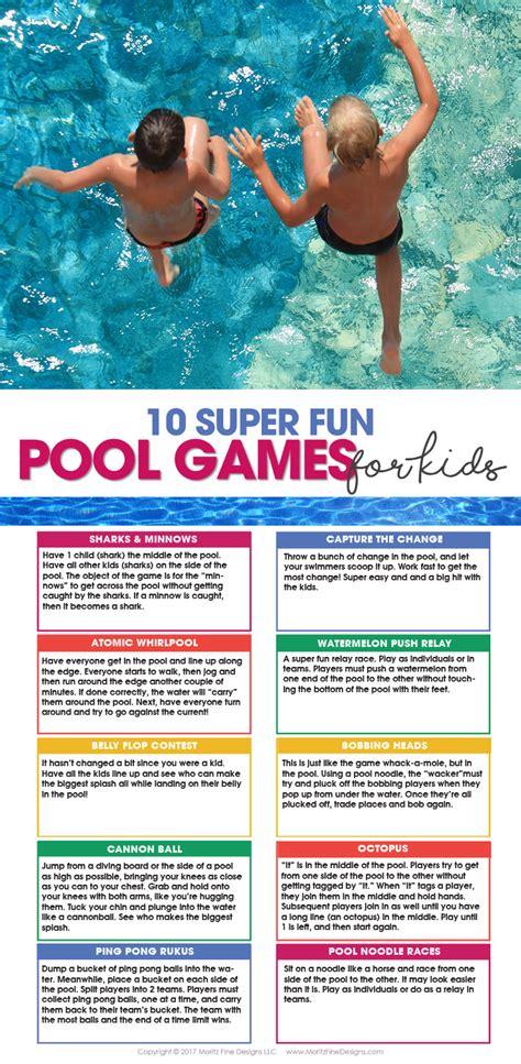 pool games  kids  printable moritz fine designs