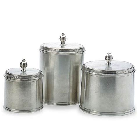 Kitchen Canisters Pewter by Match Pewter Canisters Small Medium And Large