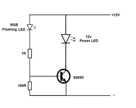 Power Led Flasher Circuit Using Rgb Flashing