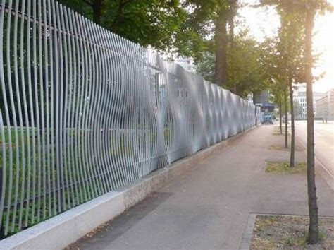 beautiful steel fence panels residential ideas