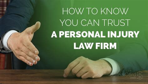How To Know You Can Trust A Personal Injury Law Firm