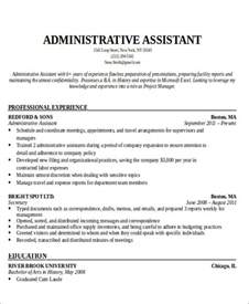 Administrative Assistant Resume Objective Samples