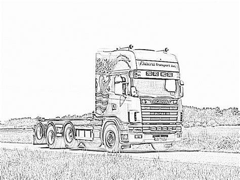 Kleurplaat Volvo Vrachtwagen by Scania Kleurplaat Ge 239 Nspireerd Kleurplaat Een